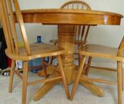 Solid wood Table and chairs - need to go