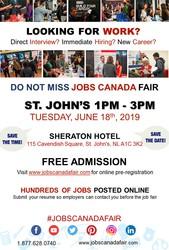 St John's Job Fair - June 18th,  2019